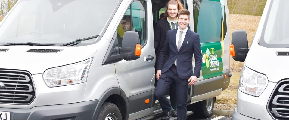 We offer a mini bus or coach to students for a monthly fee