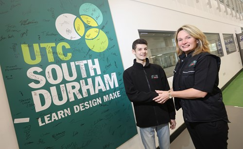 Aycliffe Fabrications - Katie Flanagan and Apprentice Matthew Brown