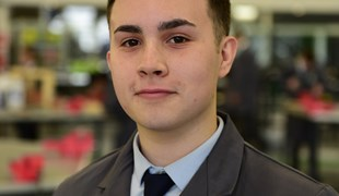 Miles has secured an apprenticeship for after his UTC studies